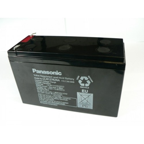 battery sla panasonic sealed lead acid 12v 7ah. Black Bedroom Furniture Sets. Home Design Ideas