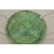 Large Glass Platter - Green tones