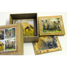 Set or 4 coasters - Wildlife (Big 5 )